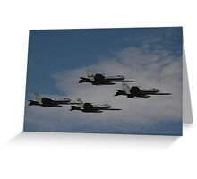 Amberley Airshow 2008 - Hornet Formation Flypast Greeting Card