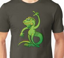 Green Iguana Giving an Idea Unisex T-Shirt