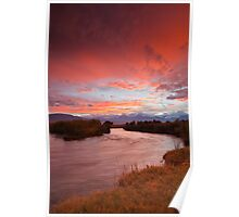 Epic Owens River Sunset Poster