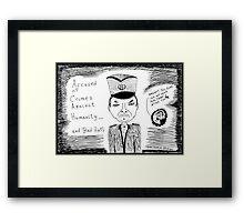 Radko Mladic - Busted Framed Print