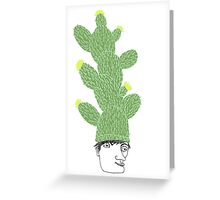 Cactus Hat Hipster Street Wear Greeting Card