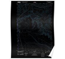USGS Topo Map Oregon Rodman Rim 20110829 TM Inverted Poster