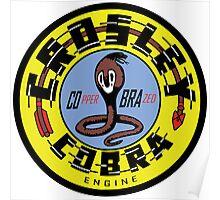 Crosley Cobra Engine vintage sign reproduction Poster