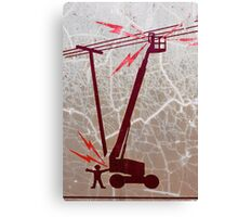 ELECTRICAL HAZARD Canvas Print