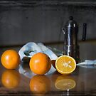 Oranges and coffee by Paul Woods