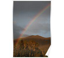 Rainbow on the San Francisco Mountain Peaks. Poster