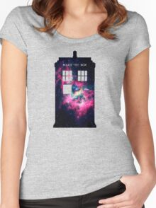 Space TARDIS - Doctor Who Women's Fitted Scoop T-Shirt