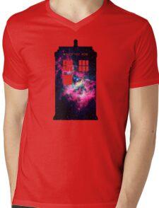 Space TARDIS - Doctor Who Mens V-Neck T-Shirt