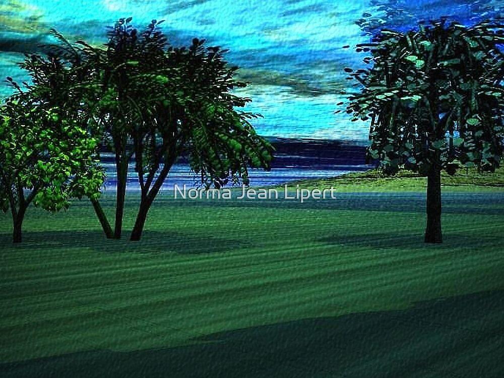 Drive Along the Lake by Norma Jean Lipert