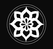Thick white flower mandala - OneMandalaAday by onemandalaaday