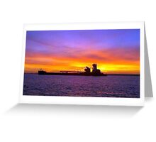 Northern Michigan Freighter Greeting Card