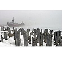Freighter in Winter Photographic Print
