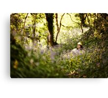 Sitting in the forest Canvas Print