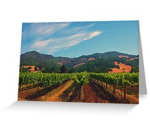 California Vineyard Greeting Card