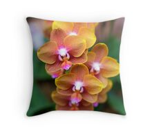 Sunrise Orchids - NYBG Orchid Show 2011 Throw Pillow