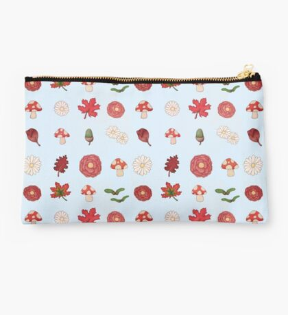 Autumnal flowers and leaves  Studio Pouch