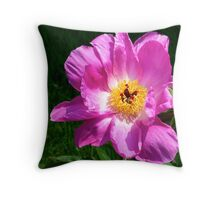Pink Peony - NYBG Spanish Paradise Show Throw Pillow