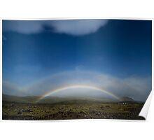 Double Rainbow, Iceland Poster