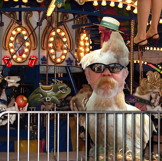 The Chicken Man at the Carnival by BCallahan