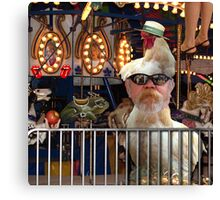The Chicken Man at the Carnival Canvas Print