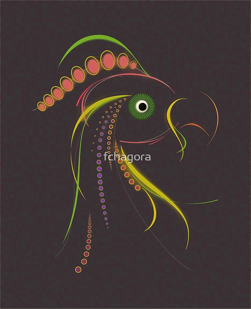 Lines Color Bird Dark by fchagora