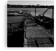 The jetty at the Deben Canvas Print
