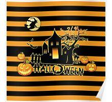 Stripes Halloween Poster