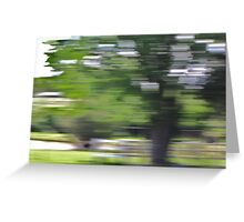 Abstract Drive-By Greeting Card
