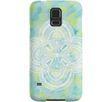 5 bubble mandala on bluegreen - OneMandalaAday Samsung Galaxy Case/Skin