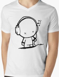 Music Man Mens V-Neck T-Shirt