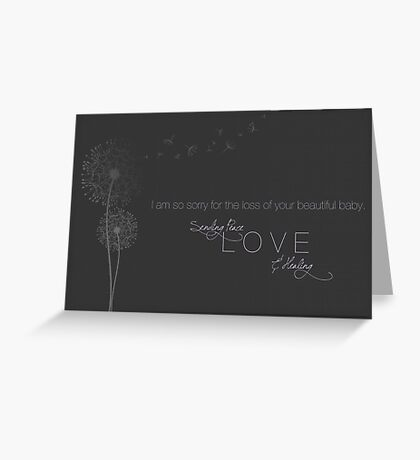 Sending Peace Greeting Card
