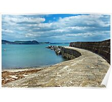 Along the Cobb Wall 2 ~ Lyme Regis Poster