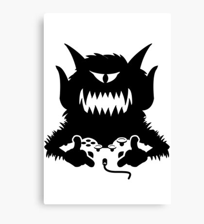 Monster Gamer Canvas Print