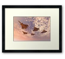 The missing man formation as a Memorial Day tribute. Framed Print