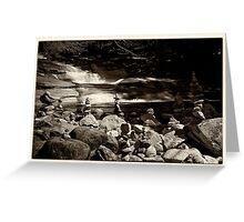 Cairns at the Mumlava river Greeting Card