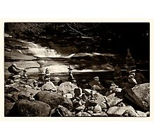 Cairns at the Mumlava river Photographic Print