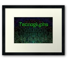 Technoglyphs Framed Print