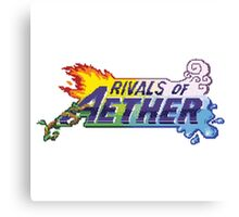 Rivals of Aether Logo Pixel print Canvas Print