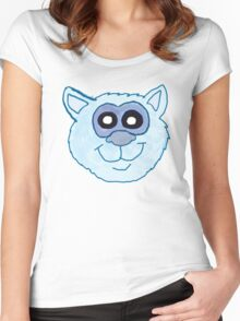 Blue Cat Face  Women's Fitted Scoop T-Shirt