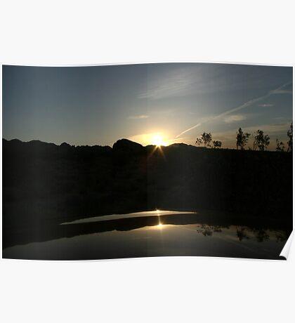 Yacu valley california sunset Poster