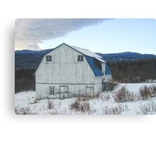 A barn in winter-Canada Canvas Print