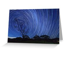 Startrails on a Moonless night Greeting Card