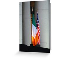 Star spangled tricolour Greeting Card