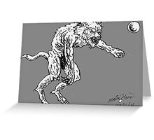 Bipideal werewolf Greeting Card