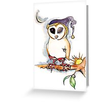 Owl in Sox Greeting Card