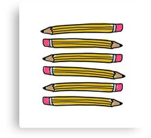 School Pencils Canvas Print
