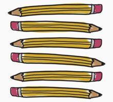School Pencils One Piece - Short Sleeve
