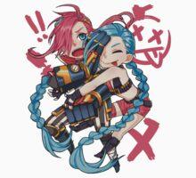 Cute Vi and Jinx - League of Legends Kids Clothes