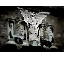War memorial statue-Lake Como, Italy Photographic Print