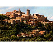 Another Tuscan hill town-Montepulciano, Italy Photographic Print